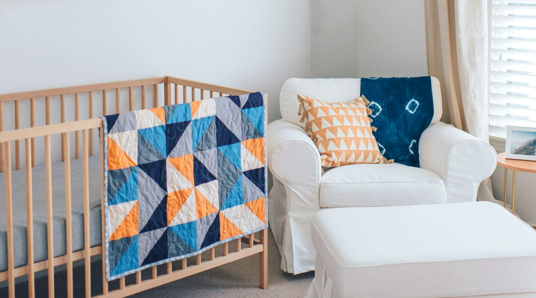 modern nursery simple wooden crib