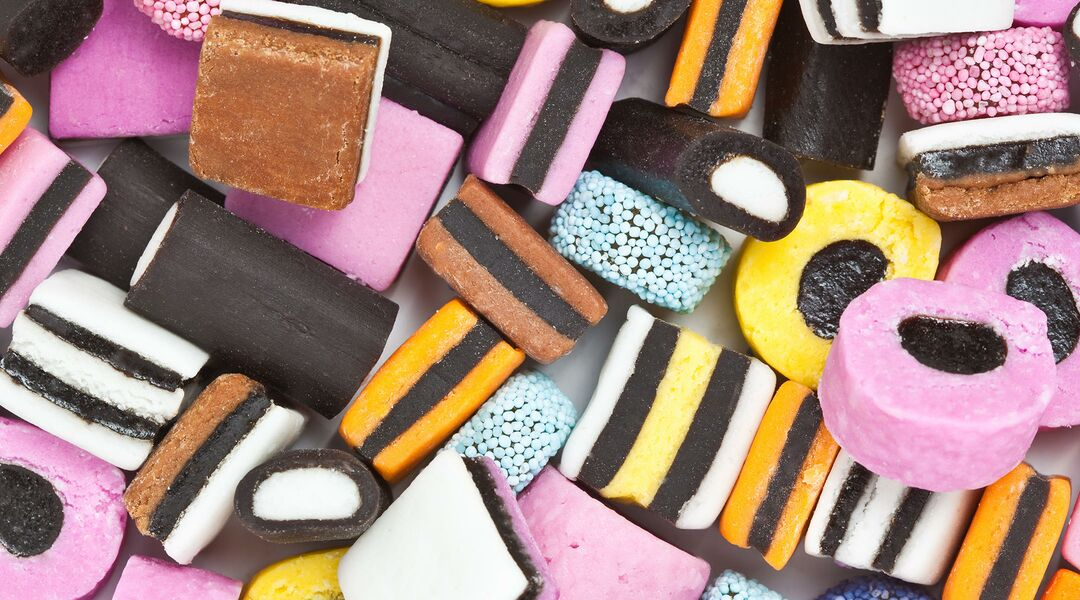 colorful licorice candies