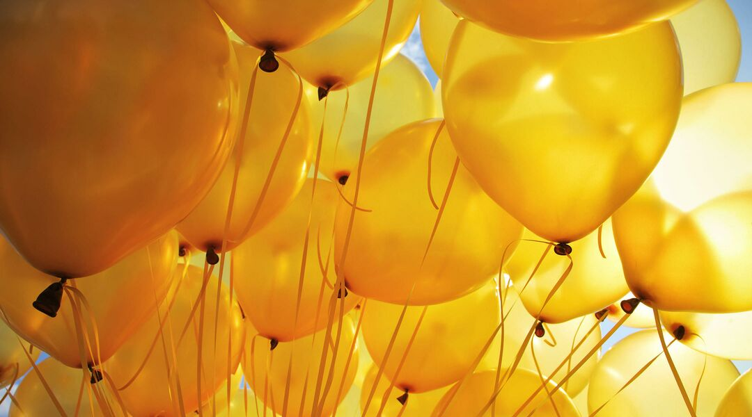 gender neutral yellow balloons