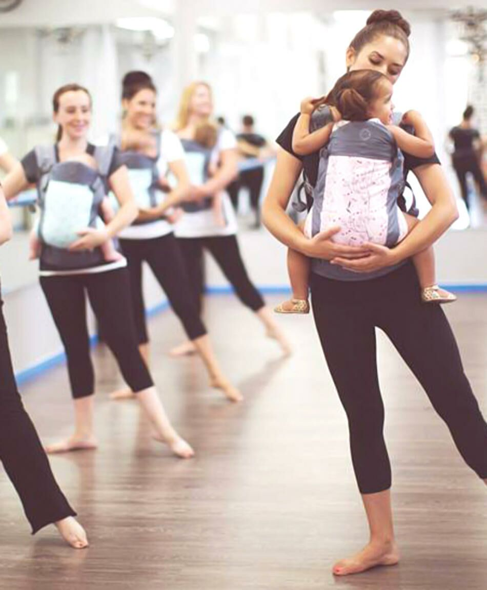 New Mom Workout Trend: Babywearing at The Barre