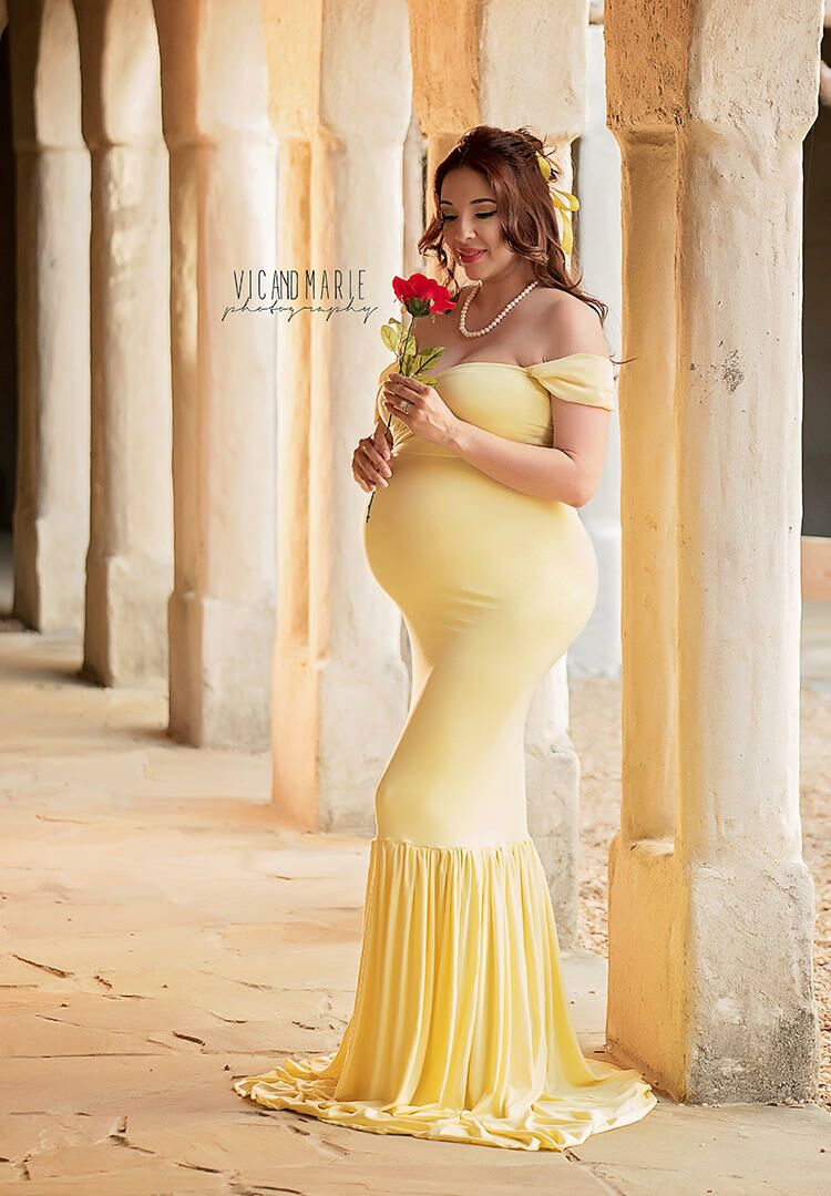 f83e34844b8 5 Moms Dress Up For Disney Princess Maternity Shoot