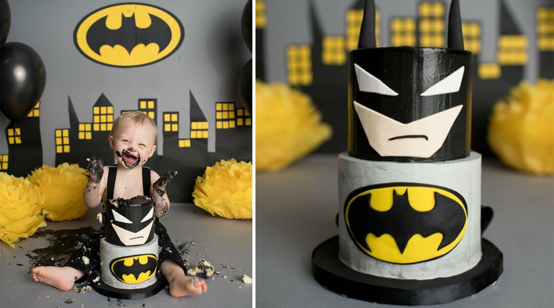 Batman cake smash