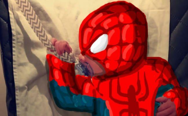 Dad Turns Baby Into a Snapchat Superhero