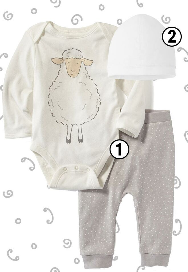 Baby coming home outfits gender neutral spring sheep