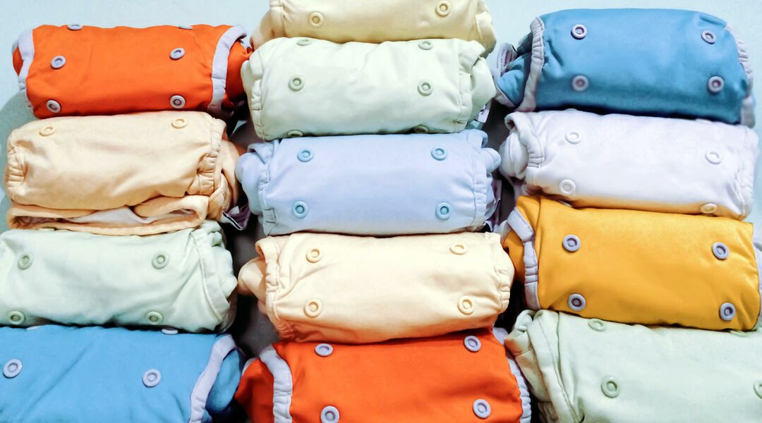 color variety cloth diapers stack
