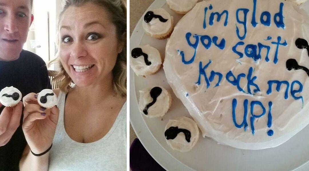 Cake celebrating a vasectomy