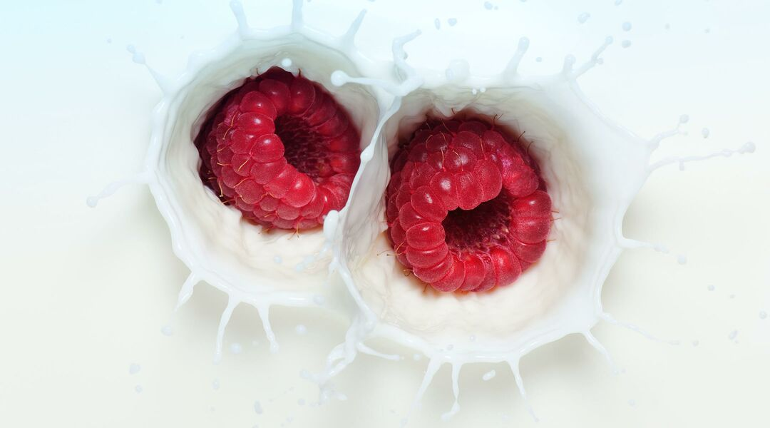 breast pumping tips, milk and raspberries