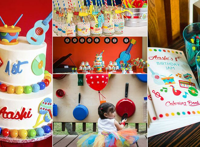 Young adult creative birthday party decorating something