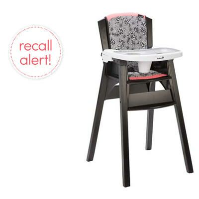 Safety 1st Recalls Décor Wood High Chairs