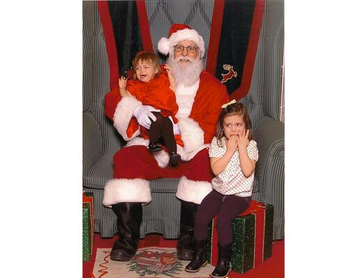 Scared of Santa!