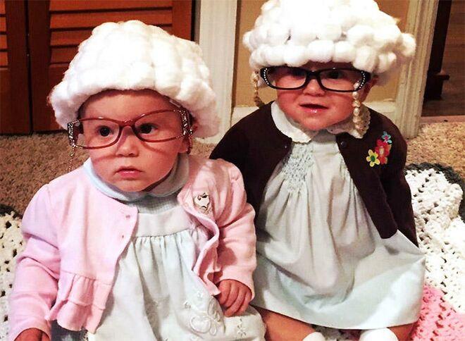 twin halloween costumes grandmas