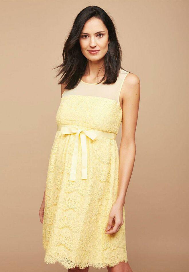 Yellow baby shower dress