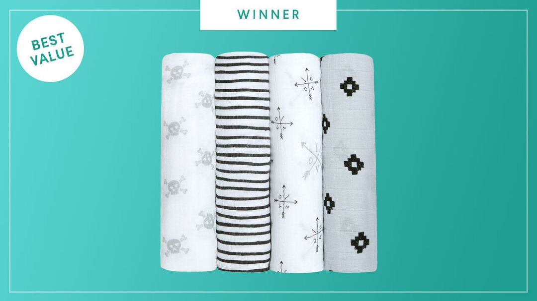 The aden + anais Classic Swaddle Blankets win the 2017 Best of Baby award from The Bump