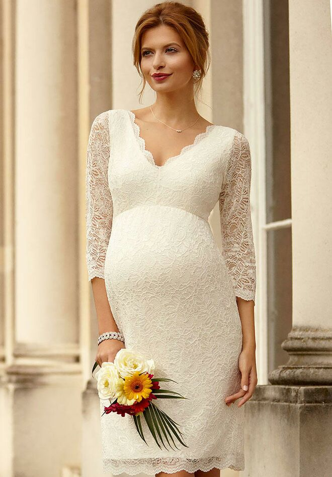 531d4e462bacb Tiffany Rose Maternity chloe short maternity wedding dress
