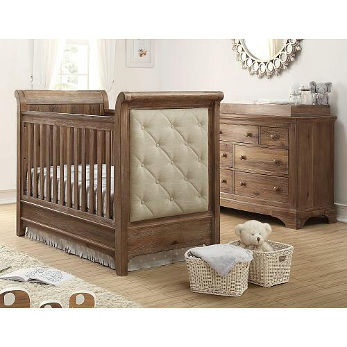 Bertini Pembrooke Upholstered 3 In 1 Convertible Crib With
