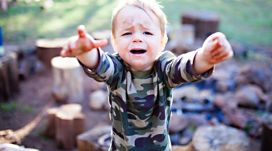 toddler boy having emotional tantrum