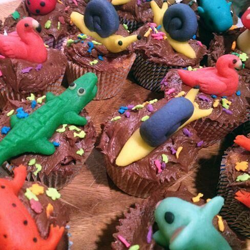 Birthday Spotlight: August's Amazing Animal Cupcakes
