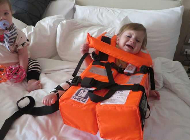 norway baby in life jacket