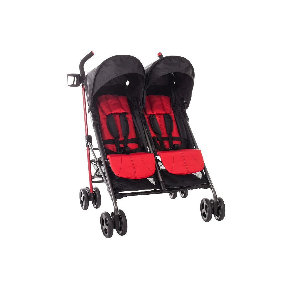 Babies R Us Zobo 2x Side By Side Stroller Cherry From