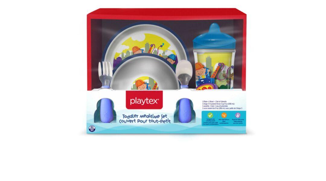 Recalled Playtex kids bowl and play set