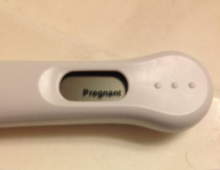 pregnancy test clear blue positive