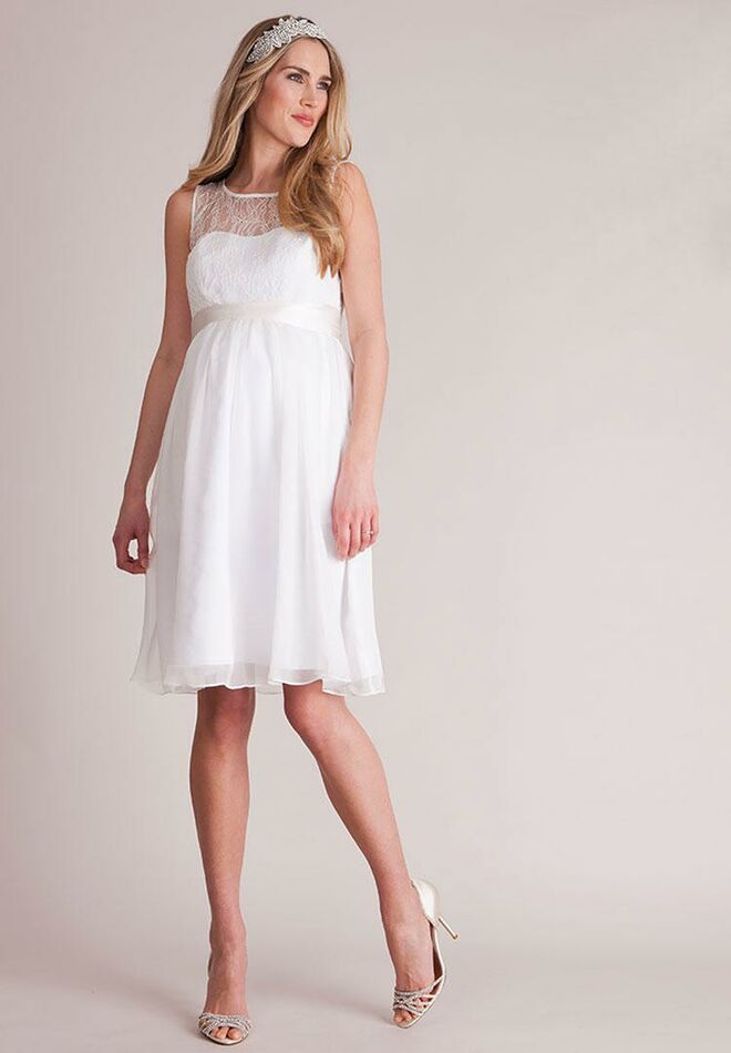 badee76cc8239 Seraphine ivory short maternity wedding dress