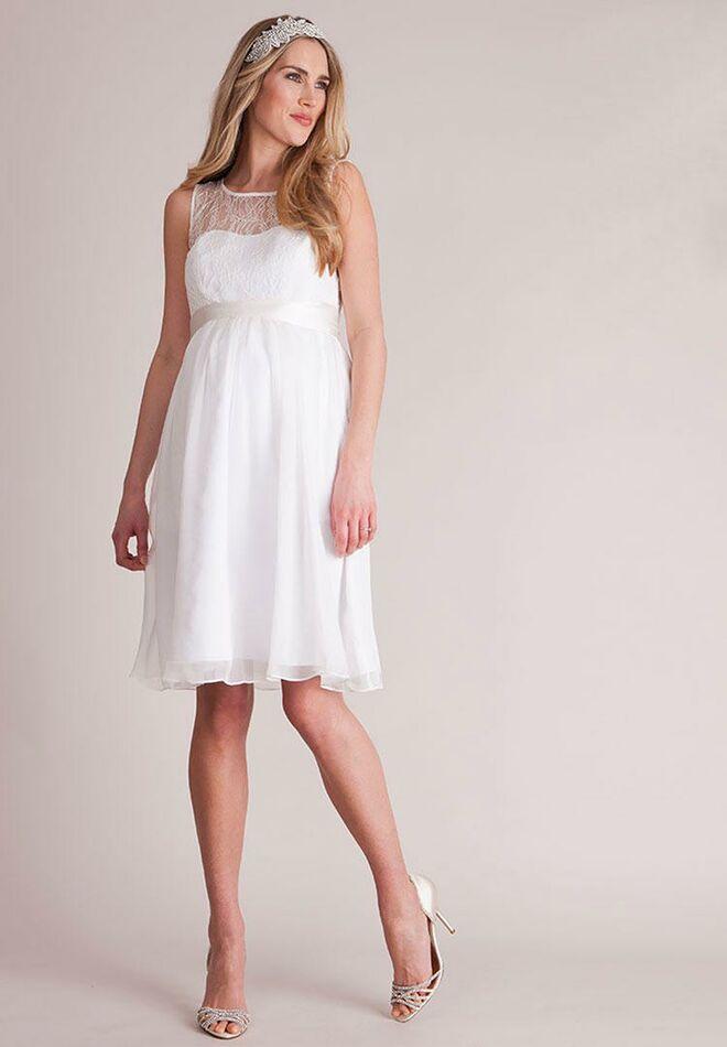 19d2df7d129f5 Seraphine ivory short maternity wedding dress