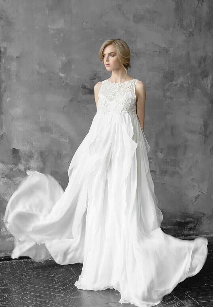 59b9cce74d12 23 Maternity Wedding Dresses