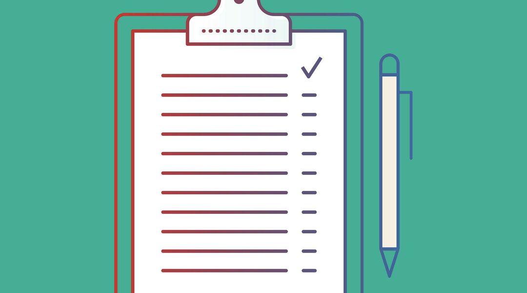 illustration of checklist clipboard