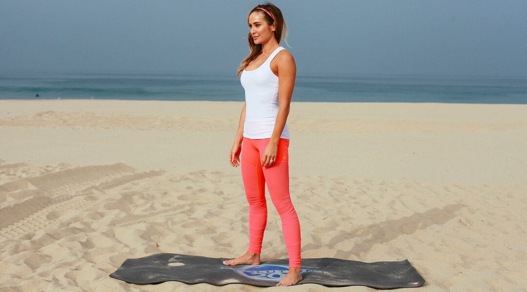 Christine Bullock standing on the beach