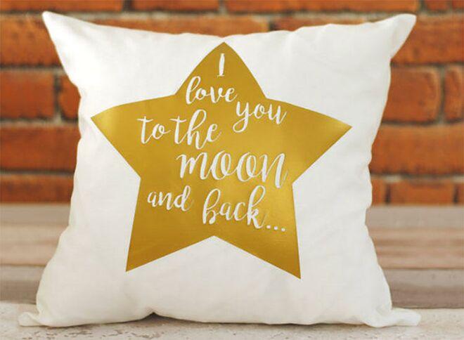 Katy ferrari gold star cushion cover