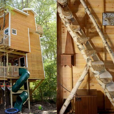 Grandfather's Treehouse Takes DIY to New Heights