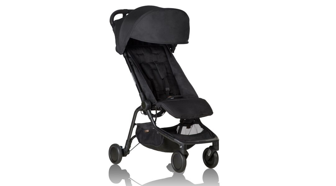 The Mountain Buggy Nano Stroller in black.