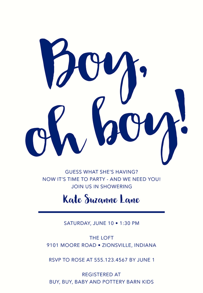 Baby Shower Invitation Wording For A Boy U2013 2  Baby Shower Invitations Words