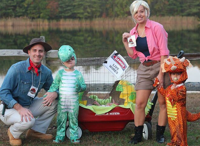 family halloween costume jurassic park