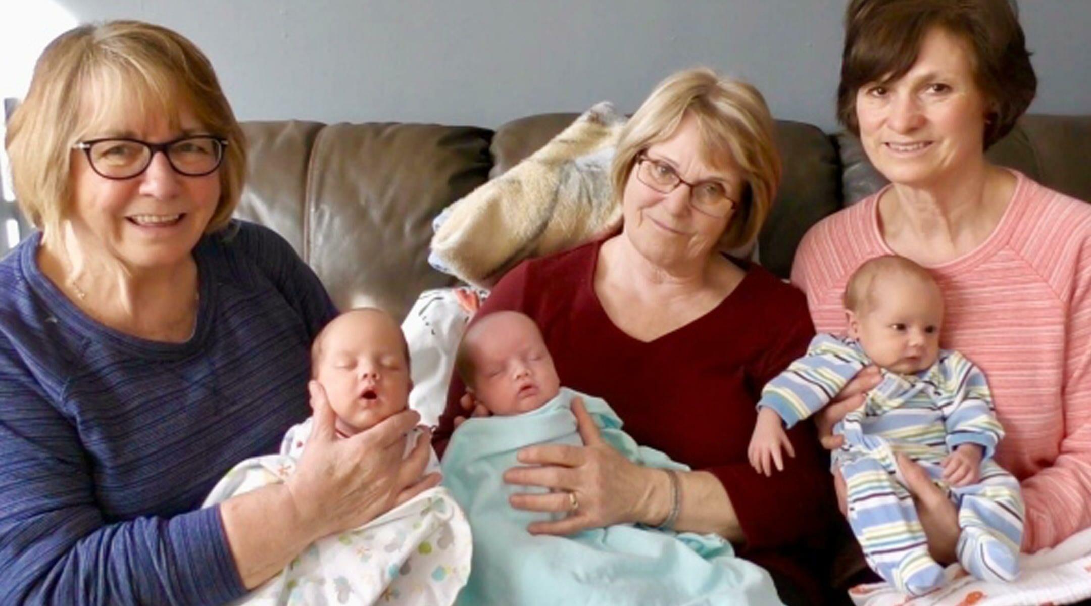 Three 'Grandmas' Answer Single Mom's Plea for Help With Triplets