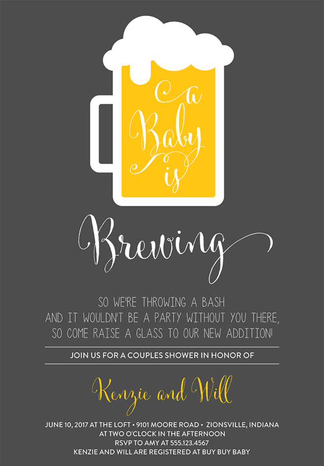 Coed Baby Shower Invitation Wording U2013 1  Baby Shower Invitations Words