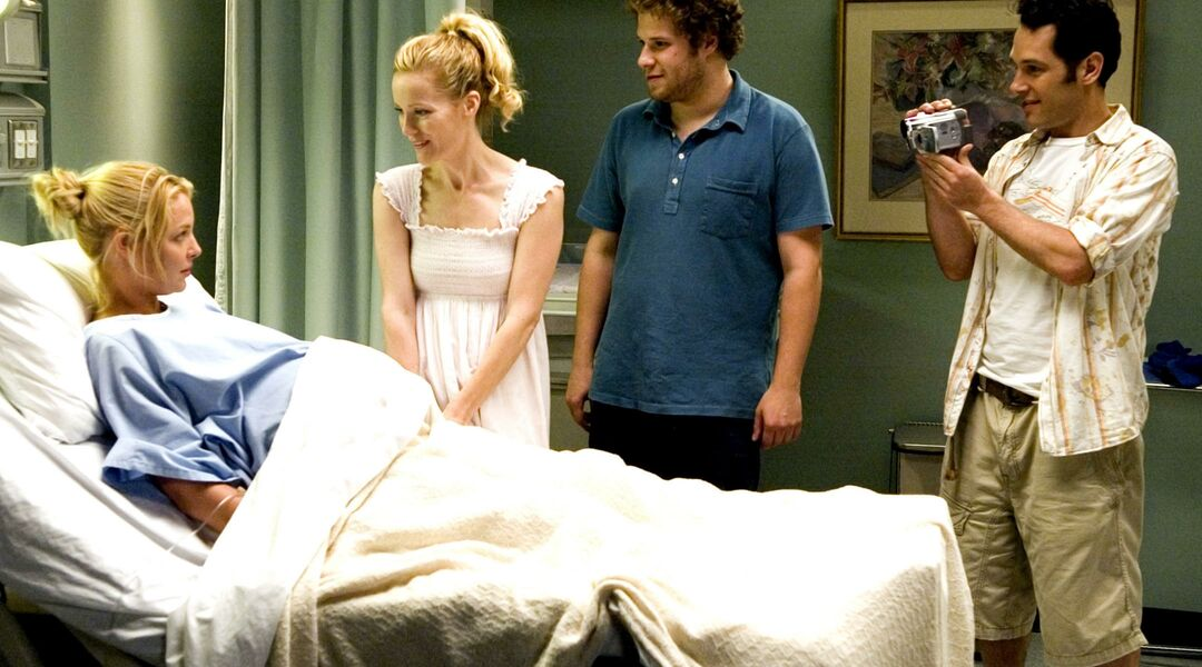Delivery room scene from the movie Knocked Up.