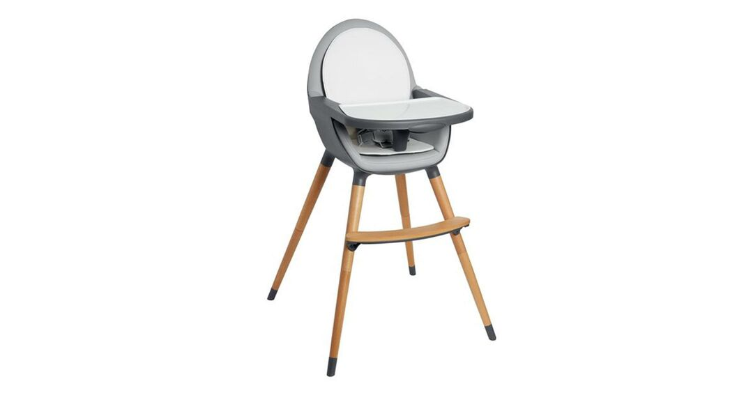 white and gray Skip Hop Tuo high chair