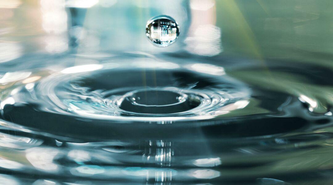 water birth droplet ripple