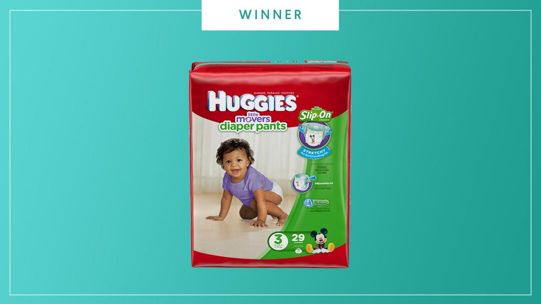 Huggies Little Movers Diaper Pants win the 2017 Best of Baby Award from The Bump.