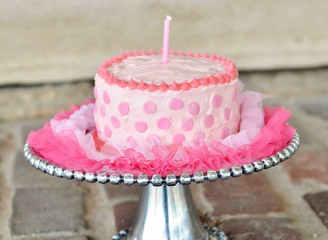 Pink Dots Smash Cake