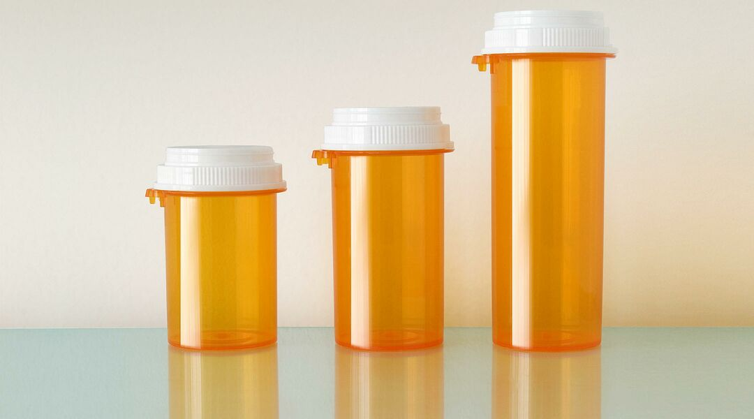 empty prescription medicine bottles