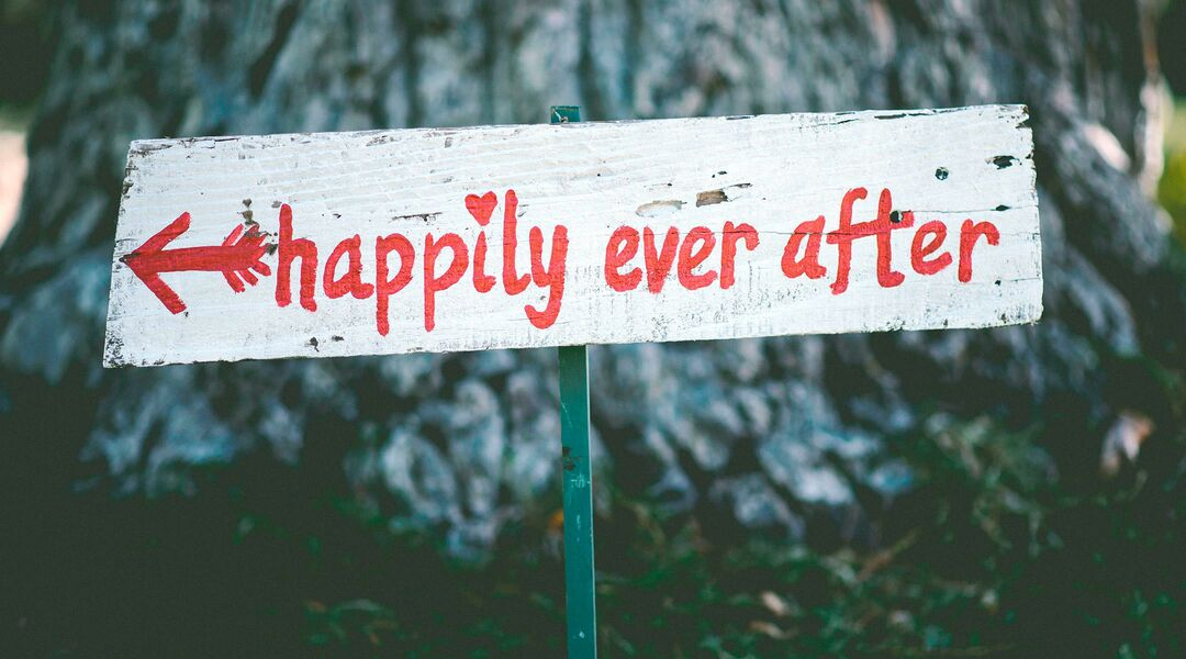 happily ever after sign in forest to signify pregnancy success