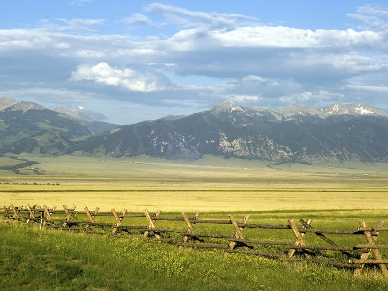 Montana mountain ranch scenery