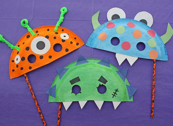 Halloween Crafts Paper Plate