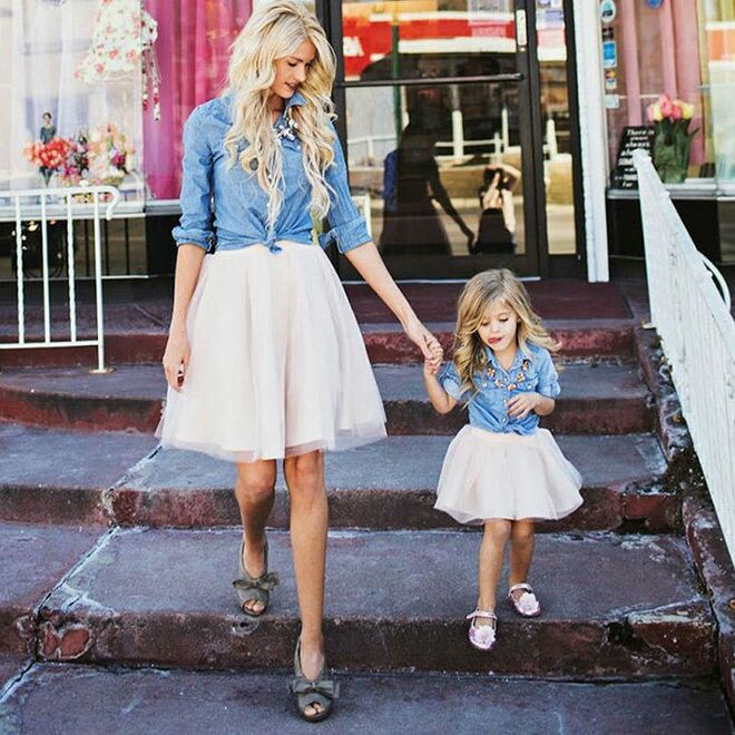 8d4556b1f24a 26 Cutest Mommy and Me Outfits for Baby Girls and Boys