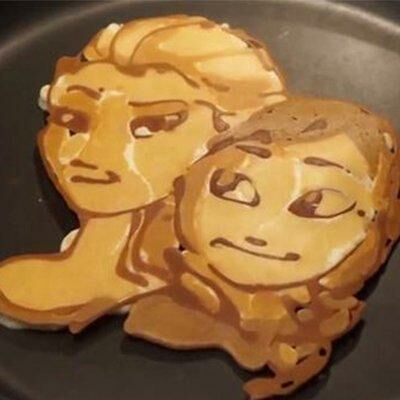 Nathan Shields Creates Disney Princess Pancake