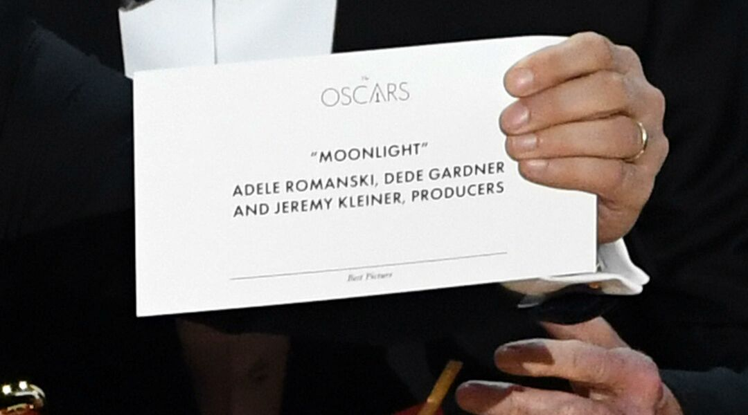 'Moonlight' Best Picture envelope at the Oscars