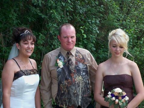 Camoflauge Wedding
